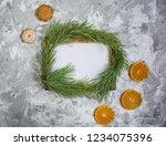 dried oranges  cookies  frame ...   Shutterstock . vector #1234075396