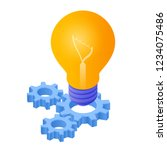 idea isometric icon. light bulb ... | Shutterstock .eps vector #1234075486