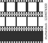 film strip set. vector template.... | Shutterstock .eps vector #1234076320