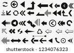 set of black vector arrows.... | Shutterstock .eps vector #1234076323