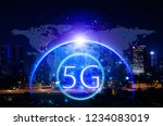 5g network wireless systems and ... | Shutterstock . vector #1234083019