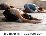 young sportive girls practising ...   Shutterstock . vector #1234086139