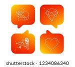 love heart  brilliant and gift... | Shutterstock .eps vector #1234086340