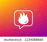 fire icon. blazing bonfire... | Shutterstock .eps vector #1234088860