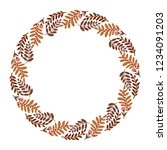 christmas wreath with round... | Shutterstock .eps vector #1234091203