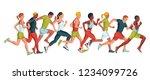 running marathon  people run ... | Shutterstock .eps vector #1234099726