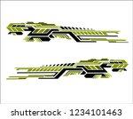 vinyls sticker set decals for... | Shutterstock .eps vector #1234101463