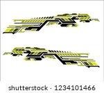 vinyls sticker set decals for... | Shutterstock .eps vector #1234101466