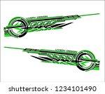 vinyls sticker set decals for... | Shutterstock .eps vector #1234101490