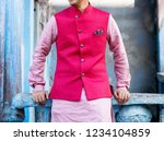 indian groom's showing kurta... | Shutterstock . vector #1234104859