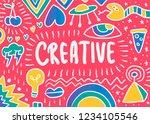 creative doodle illustration | Shutterstock .eps vector #1234105546