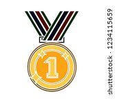 vector achievement medal badge... | Shutterstock .eps vector #1234115659