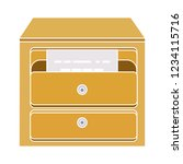 vector storage archive cabinet... | Shutterstock .eps vector #1234115716