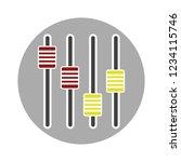 vector frequency audio... | Shutterstock .eps vector #1234115746