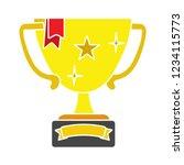 vector winner trophy cup... | Shutterstock .eps vector #1234115773