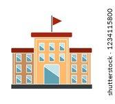 vector university building... | Shutterstock .eps vector #1234115800