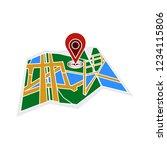 vector flat map navigation... | Shutterstock .eps vector #1234115806