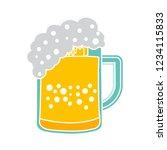beer mug isolated vector  ... | Shutterstock .eps vector #1234115833