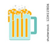 beer mug isolated vector  ... | Shutterstock .eps vector #1234115836
