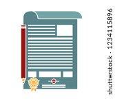 vector graduation certificate... | Shutterstock .eps vector #1234115896