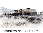 Cody  Wyoming  Old Wooden...