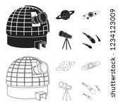 observatory with radio... | Shutterstock . vector #1234123009