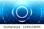 futuristic technology abstract... | Shutterstock .eps vector #1234124050
