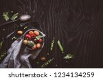 fresh organic vegetable salad.... | Shutterstock . vector #1234134259