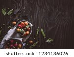 fresh organic vegetables. green ... | Shutterstock . vector #1234136026