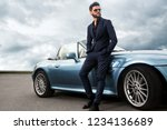 successful  handsome man near... | Shutterstock . vector #1234136689