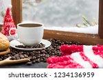 hot coffee for winter season... | Shutterstock . vector #1234136959