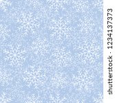 this is a winter seamless... | Shutterstock .eps vector #1234137373