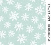 this is a winter seamless... | Shutterstock .eps vector #1234137436