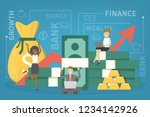 business finance growth concept.... | Shutterstock .eps vector #1234142926