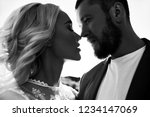 portrait of a couple in love... | Shutterstock . vector #1234147069