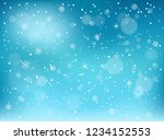 winter snowfall background.... | Shutterstock .eps vector #1234152553