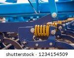 soil plow for preparation for... | Shutterstock . vector #1234154509