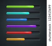color striped progress bar... | Shutterstock .eps vector #123415699