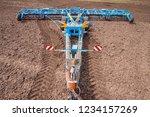soil plow for preparation for... | Shutterstock . vector #1234157269
