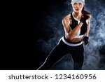 strong athletic woman sprinter  ... | Shutterstock . vector #1234160956