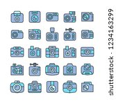 camera and video camera icons ... | Shutterstock .eps vector #1234163299