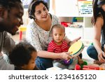 parents join their childs...   Shutterstock . vector #1234165120