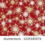 2d illustration. snowflakes... | Shutterstock . vector #1234185076