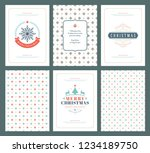 merry christmas greeting cards... | Shutterstock .eps vector #1234189750