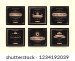 christmas sale web banners for... | Shutterstock .eps vector #1234192039