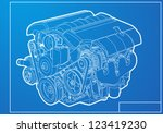 engine | Shutterstock .eps vector #123419230