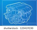 engine | Shutterstock .eps vector #123419230