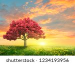 green spring landscape with... | Shutterstock . vector #1234193956