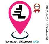 letter l and map pin. logo...