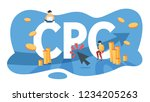 cpc cost per click advertising... | Shutterstock .eps vector #1234205263